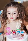 Baby girl celebrates birthday Royalty Free Stock Images