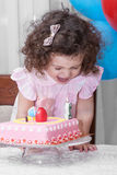 Baby girl celebrates birthday Royalty Free Stock Photos