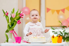 Baby girl birthday Royalty Free Stock Images