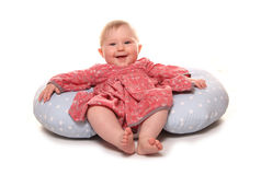 Baby girl chilling out. Studio cutout Royalty Free Stock Photo