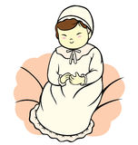 Baby Girl Christening Royalty Free Stock Images