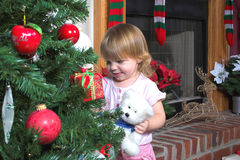 Baby Girl & Christmas Stock Image