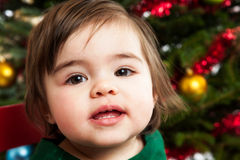 Baby girl at Christmas Royalty Free Stock Photos