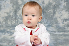 Baby Girl in Christmas Dress 2 Royalty Free Stock Photography