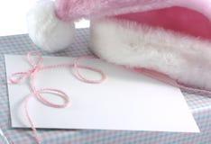 Baby girl Christmas Gift stock photography