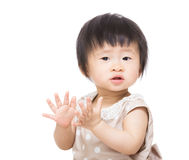 Baby girl clapping hands Stock Photo