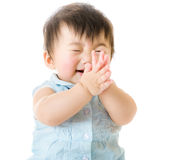 Baby girl clapping Stock Image
