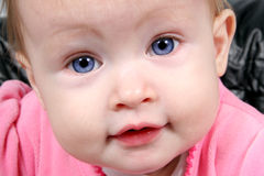 Baby Girl Closeup stock image