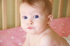 Baby Girl Closeup 2 Royalty Free Stock Photos