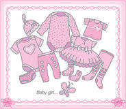Baby girl clothes Stock Photography