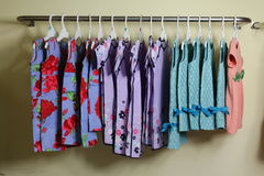 Baby Girl Clothing Hanging on clothesline Stock Image