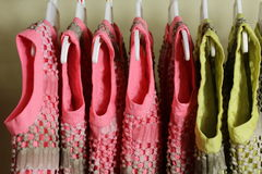 Baby Girl Clothing Hanging on clothesline Royalty Free Stock Photos