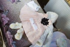 Baby girl cloths Royalty Free Stock Photos