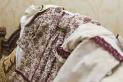 Baby girl cloths Stock Images