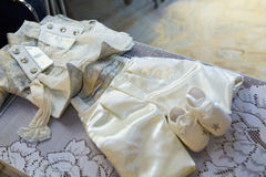Baby girl cloths Stock Photography