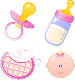 Baby Girl Collection royalty free illustration
