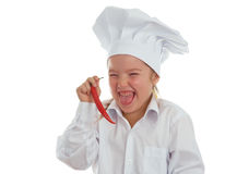 Baby girl cook Stock Photo