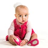 Baby girl in costume princess Royalty Free Stock Photography