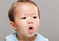 Baby girl coughing Stock Photography