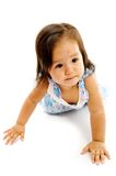 Baby Girl Crawling Stock Photo
