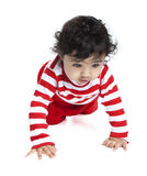 Baby Girl Crawling Stock Photo