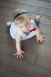 Baby Girl Crawling Royalty Free Stock Photo