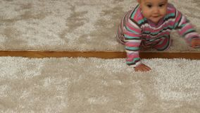 Baby Girl Crawling stock footage
