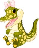 Baby girl crocodile. Illustration of very cute baby girl crocodile Royalty Free Stock Images