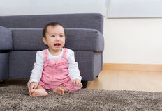 Baby girl crying Stock Images