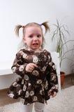 Baby girl crying Royalty Free Stock Photo