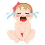 Baby Girl Crying Royalty Free Stock Photos