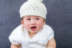 Baby girl crying Royalty Free Stock Photography