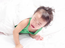 Baby girl is crying Royalty Free Stock Photos