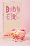Baby girl cupcake Stock Photo