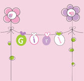 Baby Girl. Cute baby girl clothes line Stock Photography