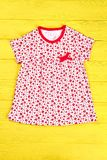 Baby-girl cute cotton dress. Royalty Free Stock Photo