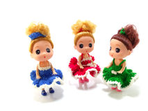 Baby girl cute doll Royalty Free Stock Image