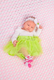 Baby Girl in Cute Outfit Stock Images