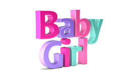 Baby Girl Cute Word. Stock Photos