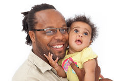 Baby Girl and Daddy Stock Image