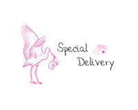 Baby girl delivery royalty free stock images