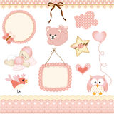 Baby girl design elements Stock Photography