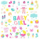 Baby Girl Design Elements Stock Images