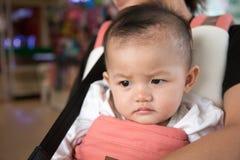 Baby girl dozy Stock Photos
