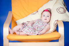 Baby girl in a dress Stock Photography