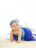 Baby girl in  dress Stock Photography
