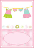 Baby girl dress card Royalty Free Stock Photos