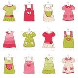 Baby Girl Dress Collection. Nice Baby Girl Dress Collection Royalty Free Stock Photography