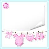 Baby Girl Dress Hanging. Vector illustration of baby girl dress hanging Stock Photos