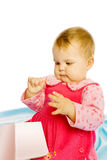 Baby girl in a dress Stock Images